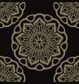 circle flourish floral mandala seamless vector image