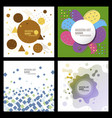 collection of creative universal artistic cards vector image