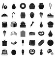 confectionery icons set simple style vector image vector image