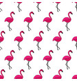 cute hand-drawn seamless pattern with flamingo vector image