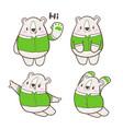 cute little bear cartoon doodle vector image