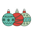 decorative green and red balls celebration merry vector image