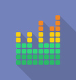 Equalizer icon Modern Flat style with a long vector image vector image