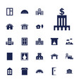 exterior icons vector image vector image