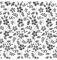 floral embroidery seamless pattern with isolated vector image vector image