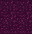 free love concept outline seamless pattern vector image vector image