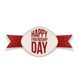Friendship Day festive Banner and red Ribbon vector image vector image