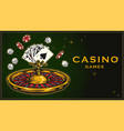 gambling colorful vintage template vector image