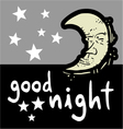 Good night symbol vector image vector image