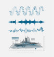 graphic musical equalizer sound waves on a light vector image vector image