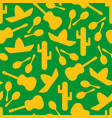 green and yellow outline mexican seamless pattern vector image