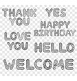 hand drawn inscriptions on transparent background vector image vector image