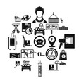 heaver icons set simple style vector image