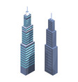 high-tech skyscrapers design modern real estate vector image vector image