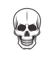 human skull monochrome style vector image