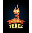 icons set of Flaming Numbers vector image vector image