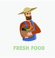 is written fresh food cartoon vector image vector image