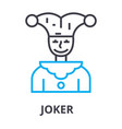 joker thin line icon sign symbol vector image