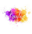 lettering on watercolored background vector image vector image
