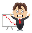 man with dropping stock on white background vector image vector image