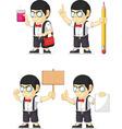 Nerd Boy Customizable Mascot 19 vector image vector image