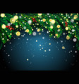 new year background with fir branches and vector image