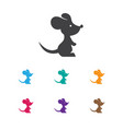 of zoology symbol on rat icon vector image vector image