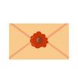 old paper letter messege vector image vector image