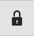 open padlock icon isolated lock symbol vector image vector image