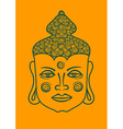 Outline face of Buddha vector image