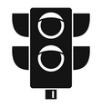 pedestrian semaphore icon simple style vector image
