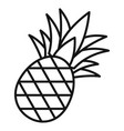 pineapple icon outline style vector image