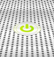 Power green button vector image vector image
