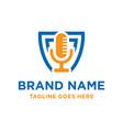 radio microphone logo design vector image vector image