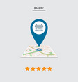 rating of cafe restaurant shop store pin on the vector image vector image