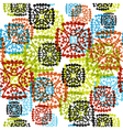 seamless pattern with multicolor snowflakes vector image