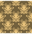Seamless yellow curly flowers pattern vector image vector image