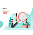 search concept modern flat design concept web vector image