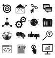 Seo web simple icon vector image vector image
