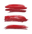 set blood red brush strokes vector image vector image