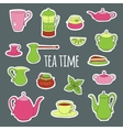 Set for tea party vector image