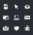 set of digital photo icons vector image