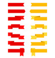 set of red and yellow ribbons and banners vector image vector image