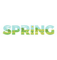spring in double exposure vector image vector image