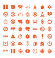 stop icons vector image vector image