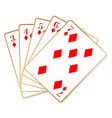 straight flush vector image vector image