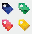tag icon Abstract Triangle vector image
