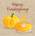 thanksgiving day greeting card banner or vector image