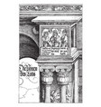 the gate of fame is an engraving by albrecht vector image vector image