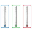 thermometers on white background vector image